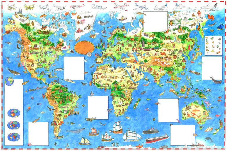 Weltkarte für Kinder - Moses