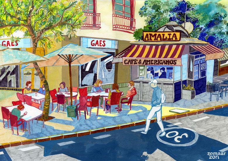"Cafe ""Amalia"" in Almeria"