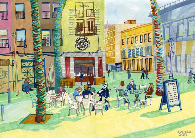 "Cafe ""Montenegro"" in Almeria"