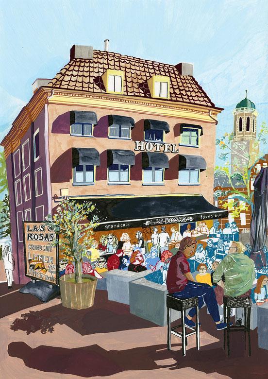 "Cafe ""Las Rosas"" in Zwolle"