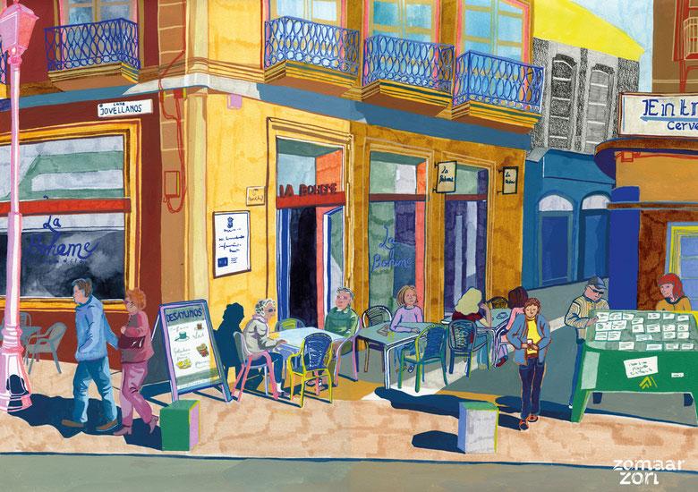 "Cafe ""La boheme"" in Almeria"