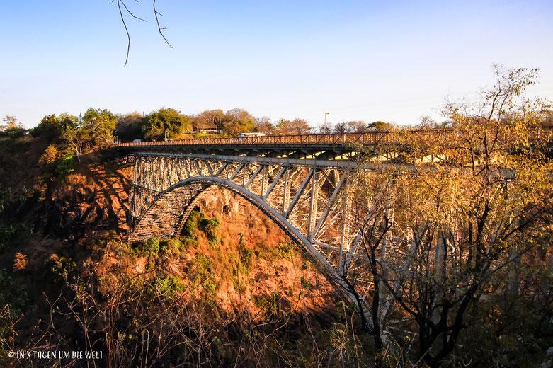 Grenzbrücke Sambia Simbabwe, Viktoria Fälle, Simbabwe, Sambia, Brücke