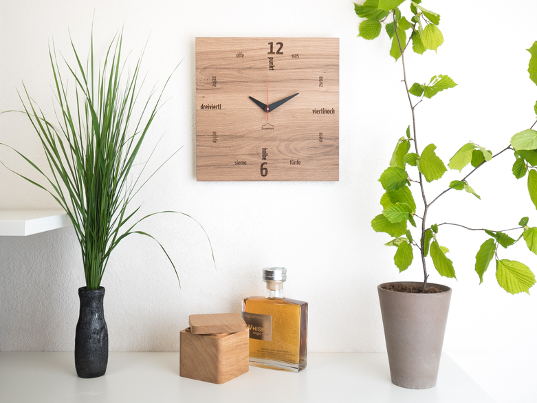 Tafinity Wanduhr Holz Wohnzimmer