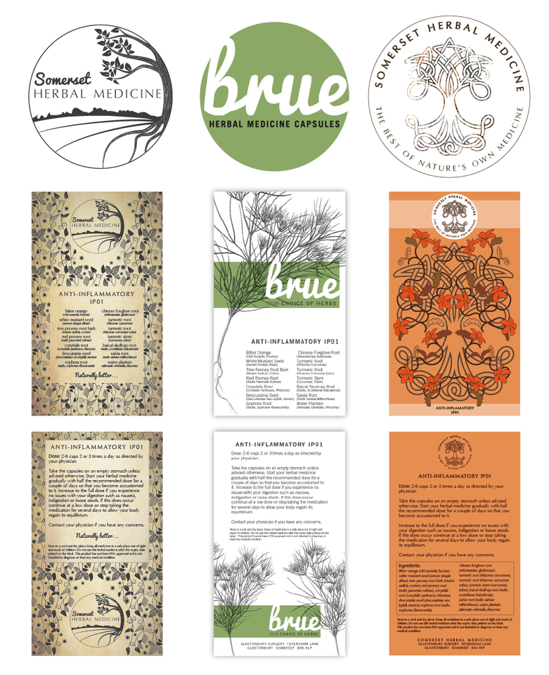 Concepts:  Packaging and logo design ideas for Herbalist company, Design BY Pie, Graphic Designer, North Devon