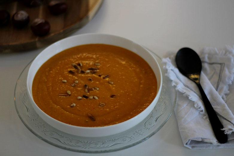 Einfach! Küche! Kürbis Parmesan Suppe