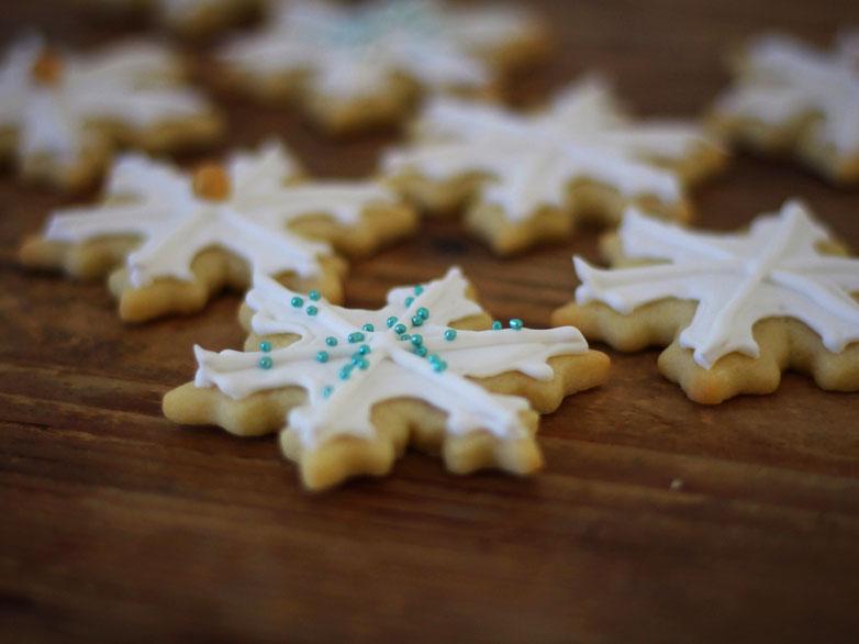 Einfach! Küche! Adventskalender 2018 - Türchen No. 13 - Schneeflocken Kekse