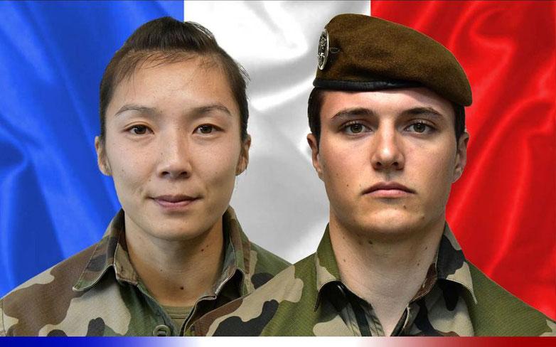 Le sergent Yvonne Huynh et le brigadier Loïc Risser, du 2e régiment de hussards de Haguenau sont morts en mission