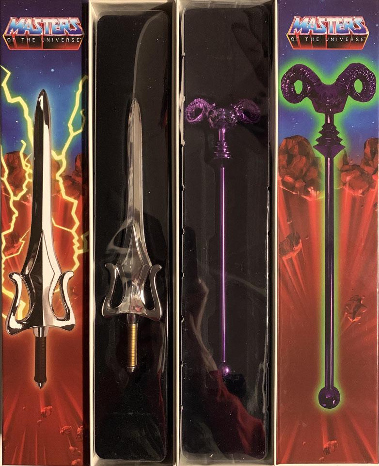 Skeletors Havoc-Stab & He-Mans Schwert der Macht Masters of the Universe Mini Replik 20cm 2er Set Diecast Factory Entertainment
