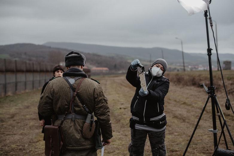 """Produktionsfoto by Kim Ahrens - Kurzfilm """"Grenzer"""" von Harry Besel, Aufnahmeleitung: Nadine Knauer"""