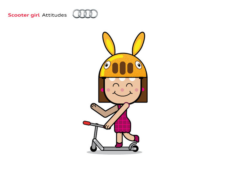 Scooter girl Audi Attitudes