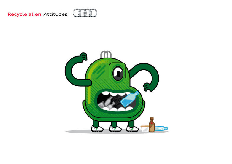 Recycle alien Audi Attitudes