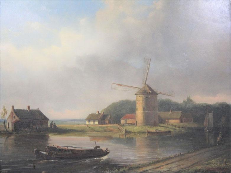 te_koop_aangeboden_een_molen_schilderij_van_de_nederlandse_kunstschilder_conradijn_cunaeus_1828-1895