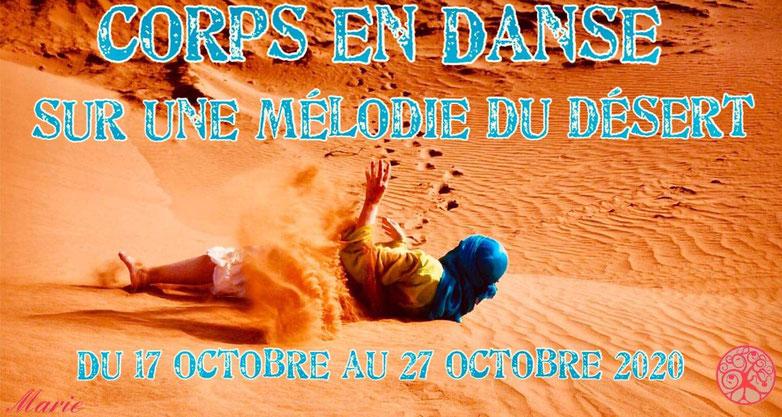 Corps en danse désert Maroc