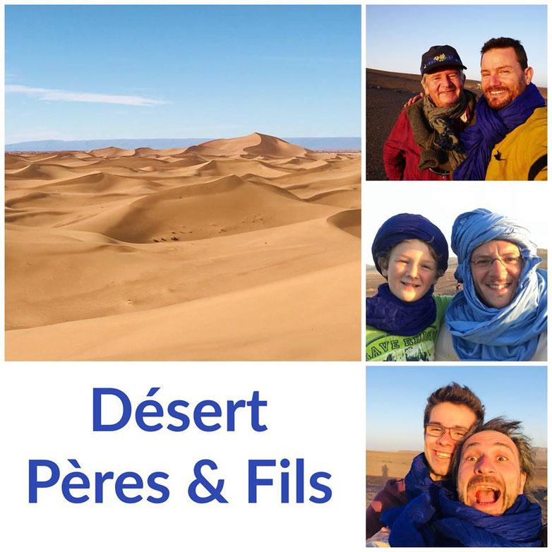 Désert pères & fils, méharée Maroc
