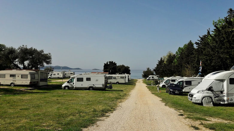 Auto Camp Nordsee, unser Platz links vorne