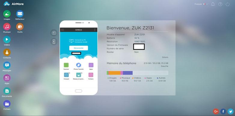 Airmore contrôler son smartphone à distance