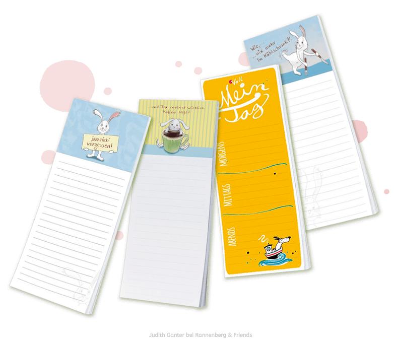 Kühlschrankblöckchen - Kurz notiert, immer alles im Blick!- Text und Illustration Judith Ganter - Verlag Rannenberg & Friends