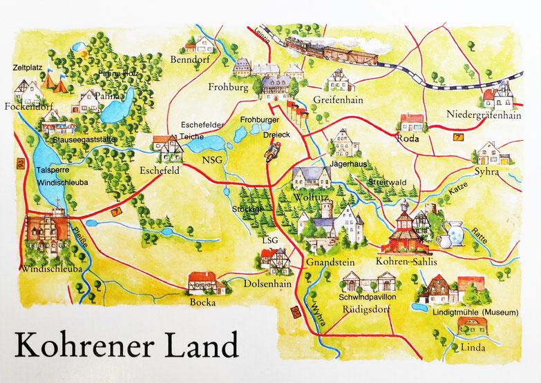 Ansichtskarte DDR vom Kohrener Land / Bildrechte: c BEBUG / Bild und Heimat, Berlin