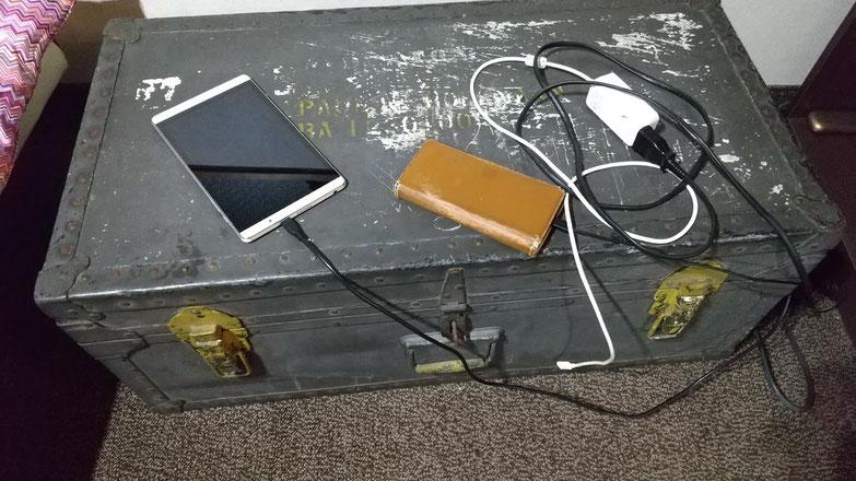 充電コーナーの写真