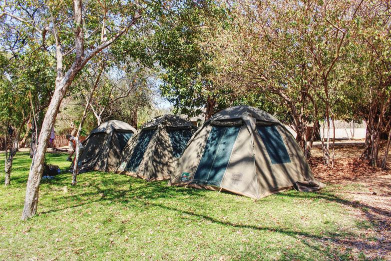 Zelten, Namushasha, Bwabwata, Namibia, Camping, campsite