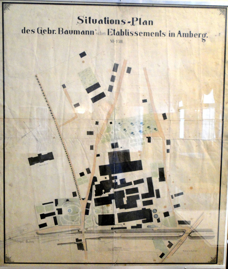Plan von 1890 [Stadtmuseum Amberg]