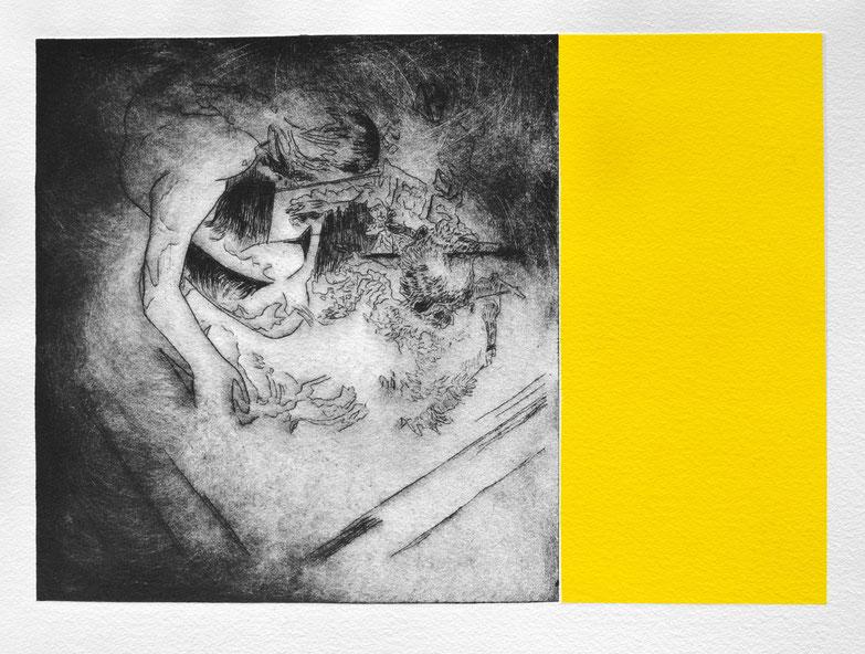 #Venus V • 2021 • engraving print on paper • 19,5 x 26,5 cm