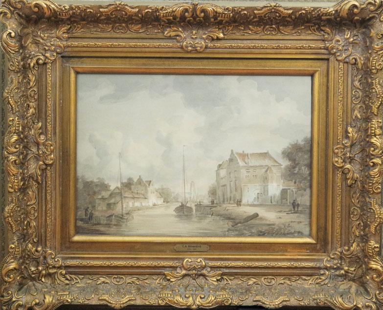 te_koop_aangeboden_een_kunstwerk_van_de_nederlandse_kunstenaar_eduard_alexander_hilverdink_1846-1891_hollandse_romantiek