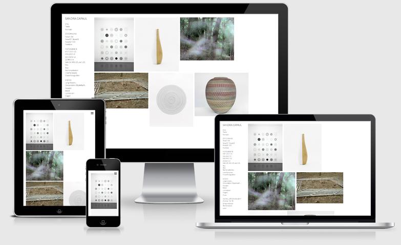 Website Sandra Capaul Responsive auf verschiedenen Geräten