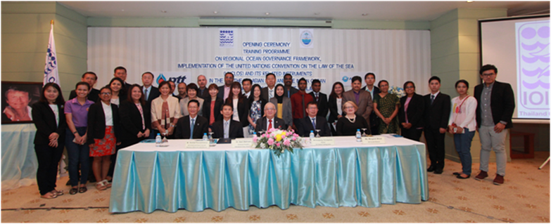 Participants, faculty, officials, and programme secretariat during the opening ceremony