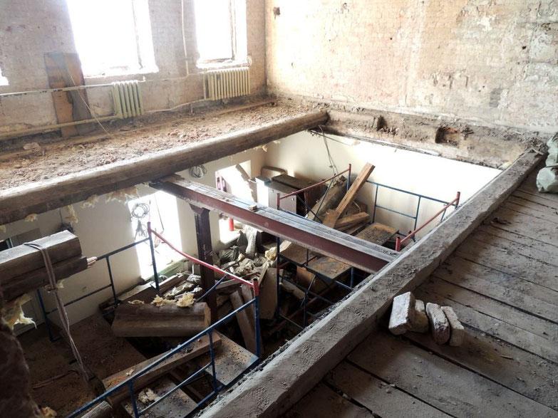 деревянные перекрытия демонтаж