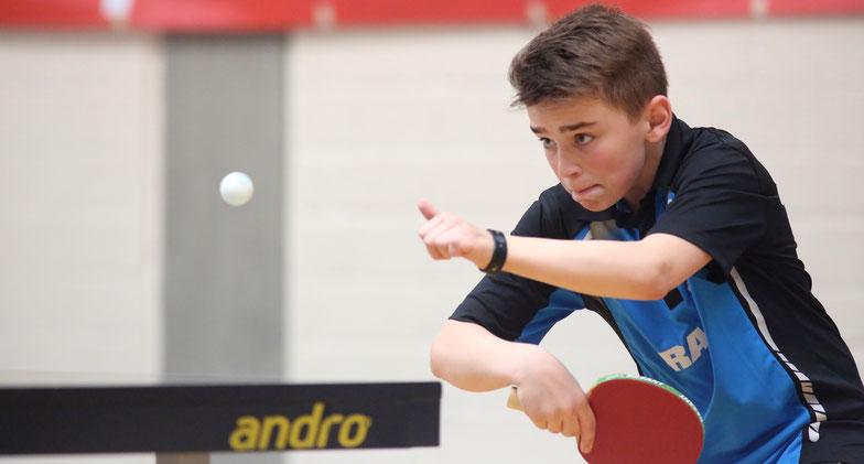 Punktete für die erste Jungenmannschaft: Max Fortmann