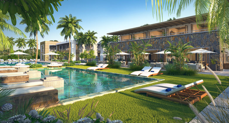 APPARTEMENTS, VILLAS  et CLUB HOUSE RES ROYAL PARK RES ILE MAURICE