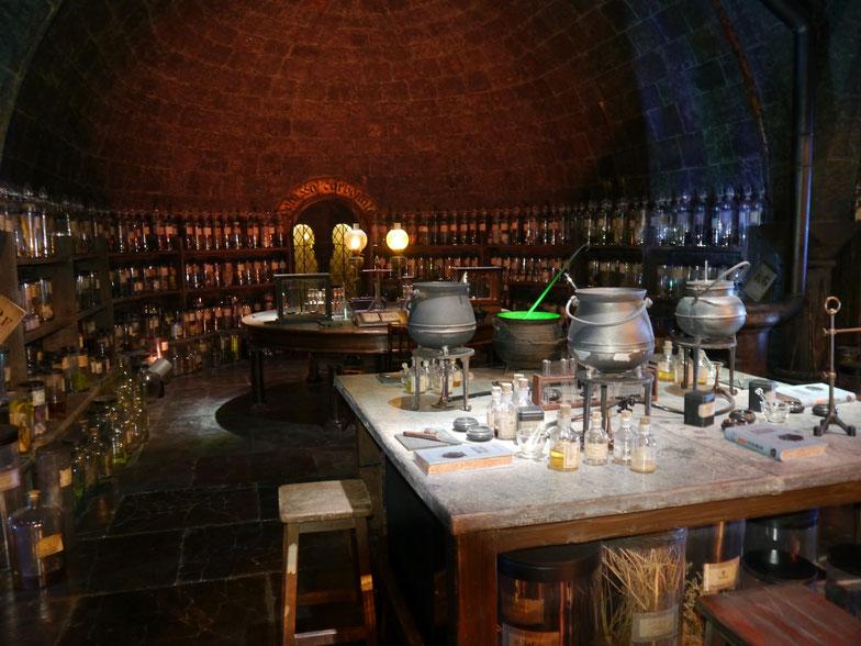 Der Klassenraum für Zaubertränke London Studios