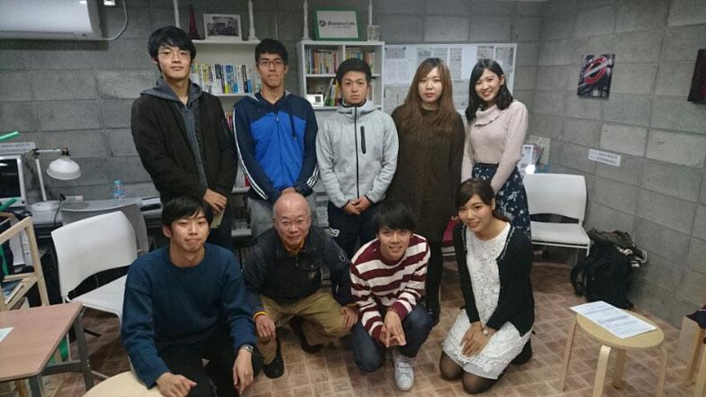 武田さん(前列右から二人目)、毛利さん(前列一番右)、早川さん(前列一番左)