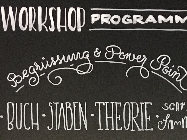 Ausschnitt vom Workshop Programm bei Different Design in Frauenfeld