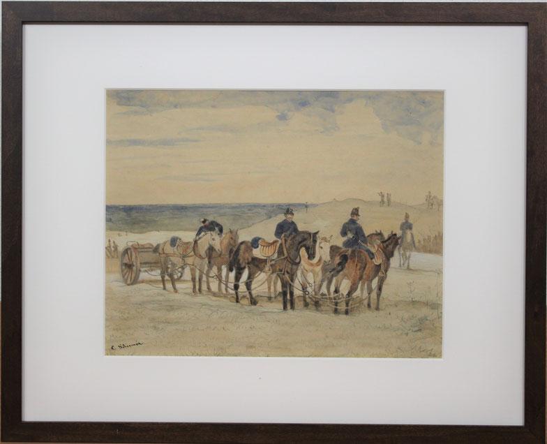 te_koop_aangeboden_een_militair_kunstwerk_van_de_kunstschilder_cornelis_albertus_johannes_schermer_1824-1915_hollandse_romantiek