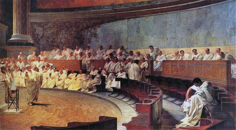 "Cesare Maccari, ""Cicerone denuncia Catilina"" (1880 ca)"