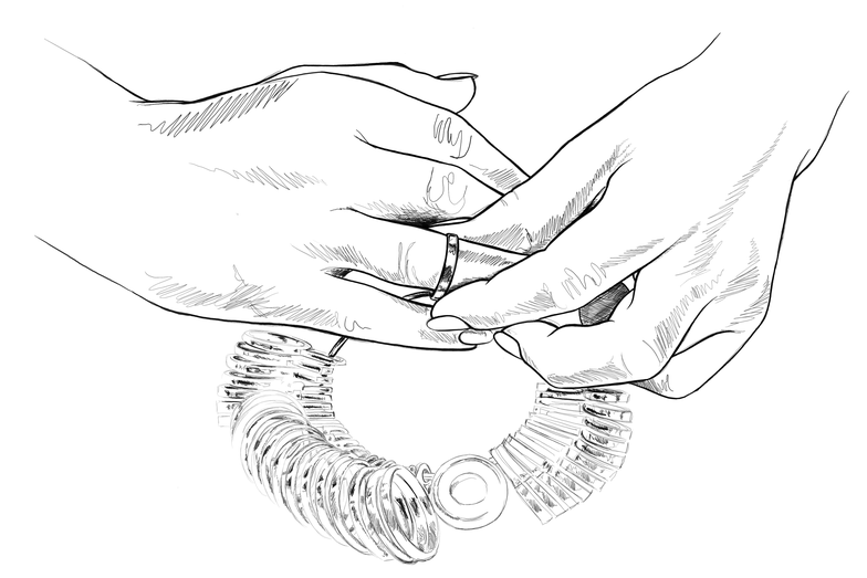 Ringgröße bestimmen, Ringgrösse bestimmen, Ringmass