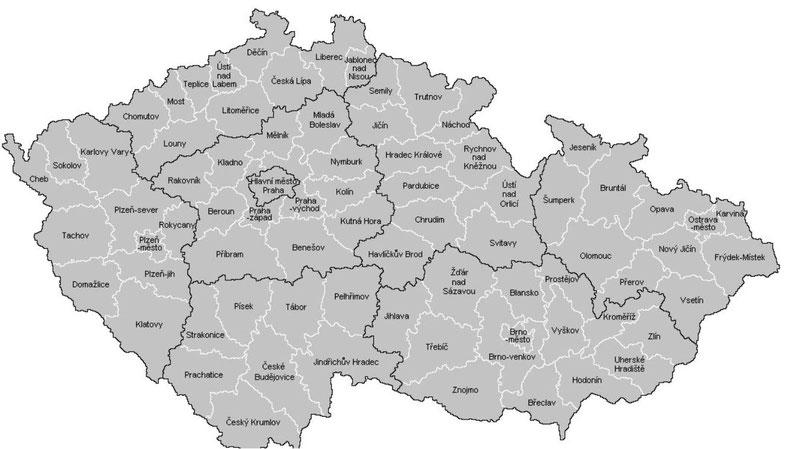 Landkarte Tschechische Republik