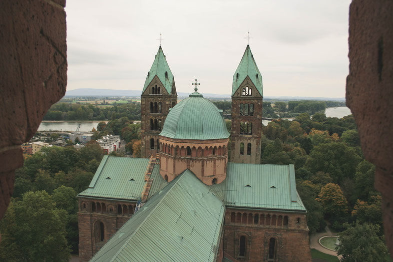 Speyer Germany ofpenguinsandelephants of penguins & elephants Speyer cathedral view observation deck tower