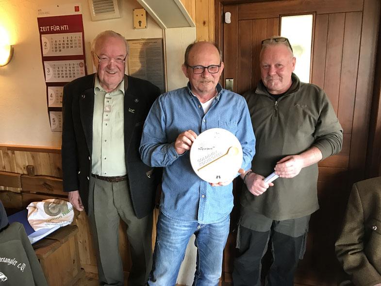 v. l. n. r.  Jürgen Zink, Manfred Borst, Dieter Kemmerzell
