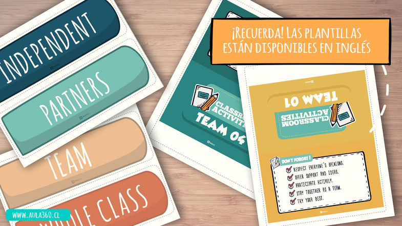 templates activities classroom groups aula360