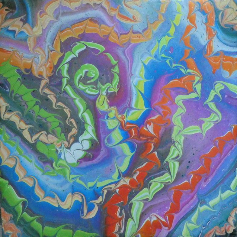 "STING (80) | Acrylic on  12"" x 12""  Deep Edge Canvas | Gloss varnish finish | £65.00 incl. p&p (UK only)"