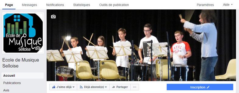 La page Facebook de l'Ecole de Musique Selloise à Selles-sur-Cher