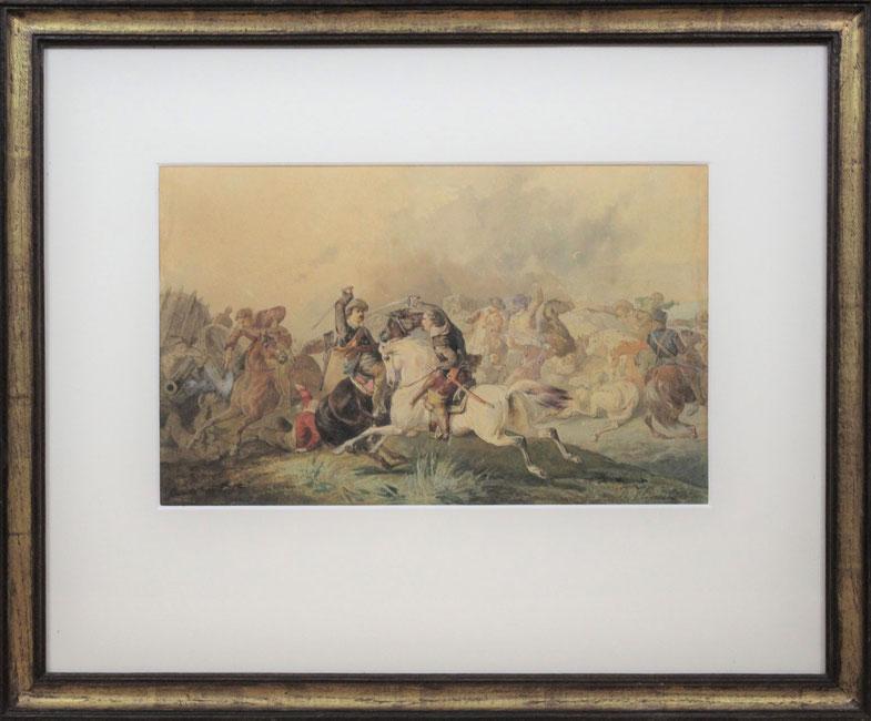 te_koop_aangeboden_een_militair_kunstwerk_van_de_nederlandse_kunstschilder_karel_frederik_bombled_1822-1902_hollandse_romantiek