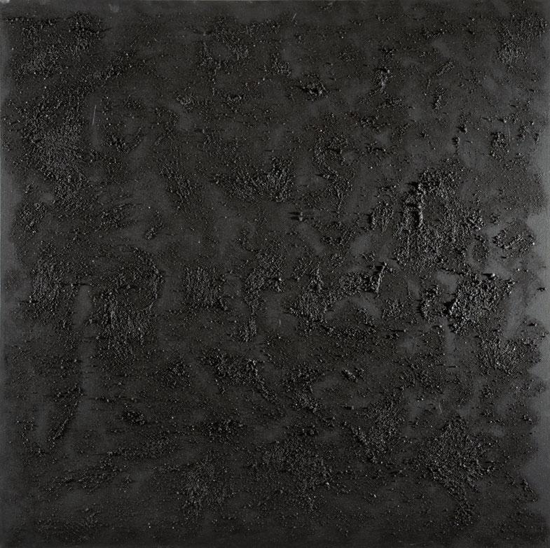 Crateri neri.Acrilico e sablè su tela.90x90.2013   Collezione privata