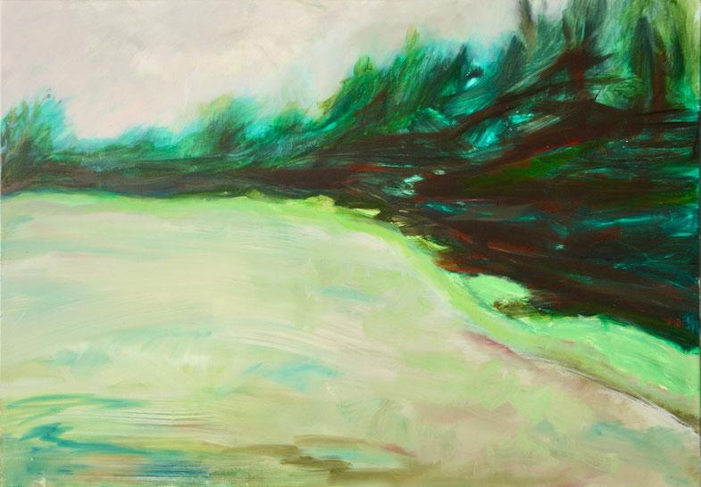 Paysage, 2018, Öl auf Leinwand, 70x100