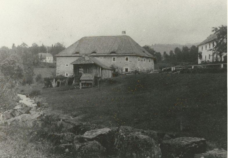 Altes Bild vom Sägewerk und Haus Felbermühler