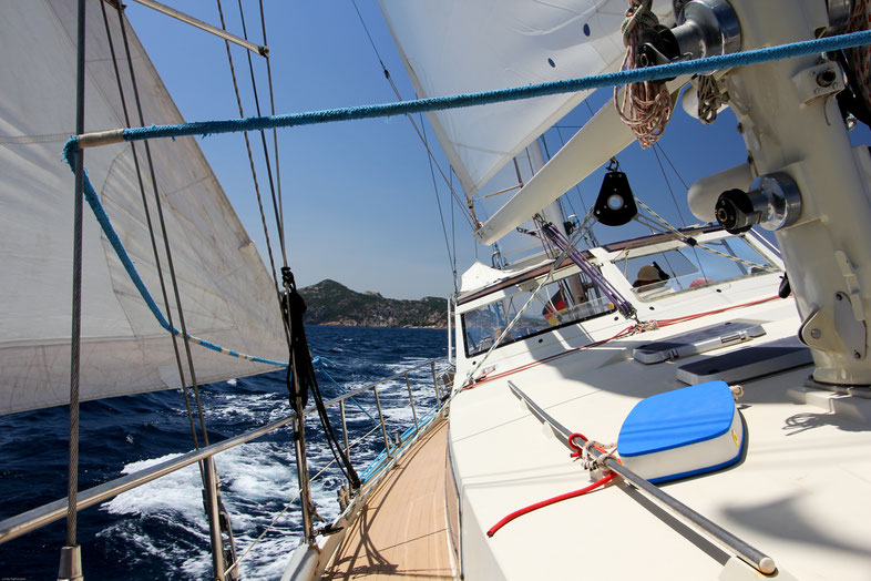 2 Gäste auf einer 16m Amel Ketch Griechenland, Mittelmeer