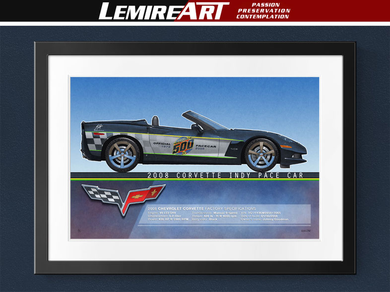 2008 Corvette Indy Pace Car drawing